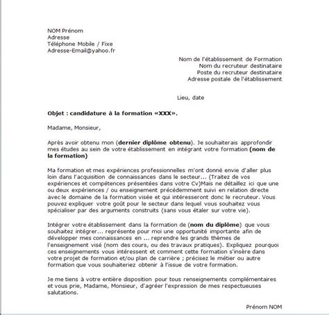 Lettre De Motivation Formation Apb Exemple De Lettre De Motivation Type Pour Une Formation Exemples De Cv