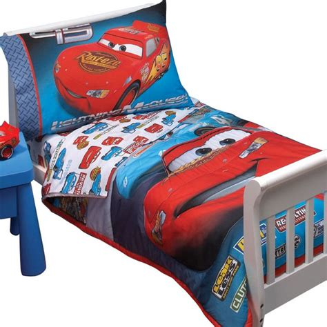 Toddler Bedding Set Disney Cars Race Toddler Bedding Set Lightening Mcqueen