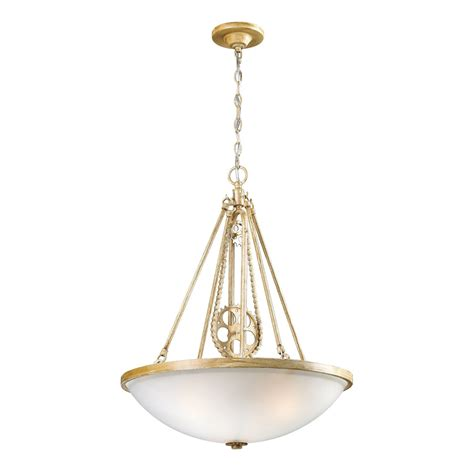 Chain Pendant Light Landmark Lighting Cog And Chain 3 Light Pendant In Bleached Wood