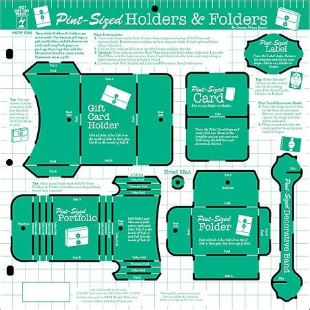 Hot Off The Press 12x12 Template Pint Sized Holders Folders Pint Template