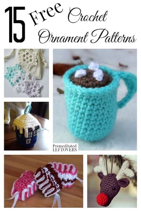 crochet patterns christmas ornaments creatys for
