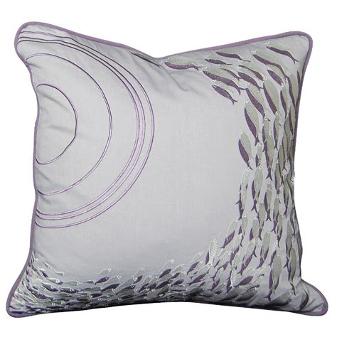 Fish Pillow by School Of Fish Silver Grey Pillow
