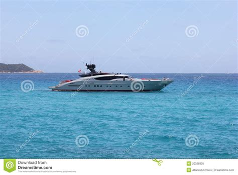 fast bay boats fast boat in saint tropez bay royalty free stock photo