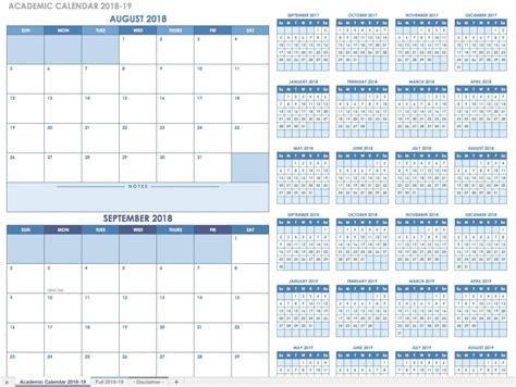 2018 Custom Calendar Template