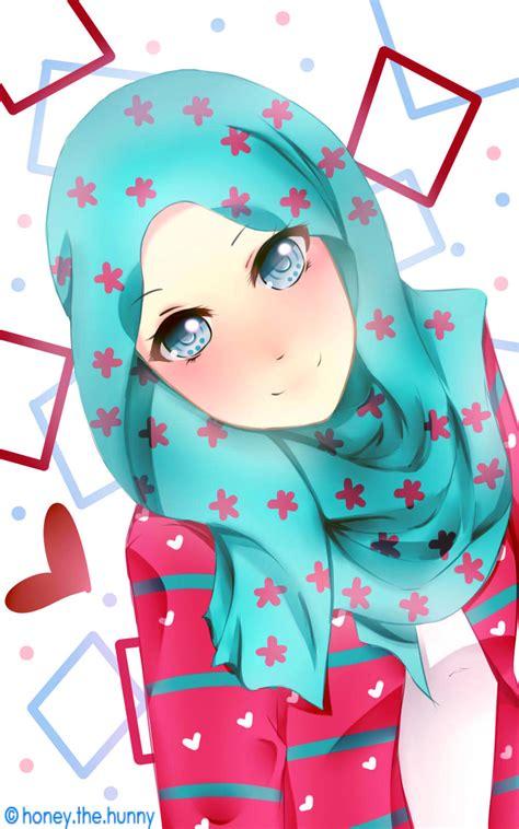 wallpaper anime muslimah muslimah girl by hanekochan on deviantart