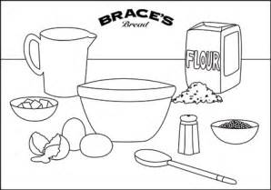 Braces Bakery  Colouring In Sheets sketch template