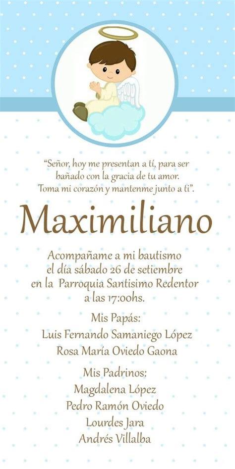Invitaciones De Bautizo Para Nino by Esta Bautismo Varon Pinteres