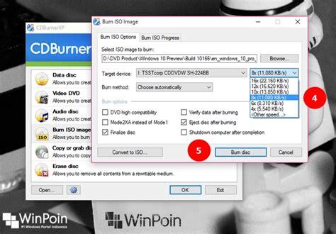 cara membuat file iso bootable windows cara burning dan membuat dvd windows 10 bootable dari file