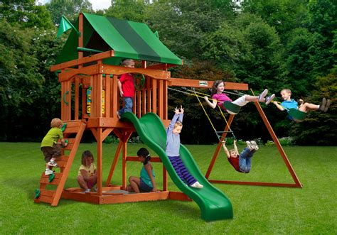 clearance swing sets lowest price gorilla cadence playset swingset paradise