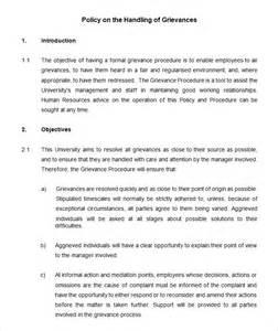 Grievance Procedure Template 60 hr policy templates hr templates free premium