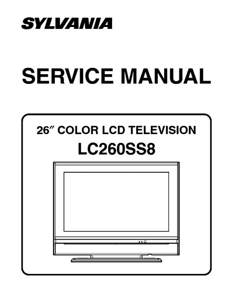 Sylvania Lc195sl9 B Lcd Tv Service Manual Free Download