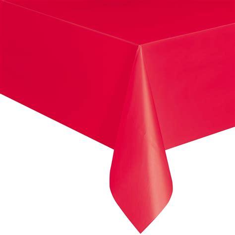 tischdecke rot rote tischdecke aus kunststoff
