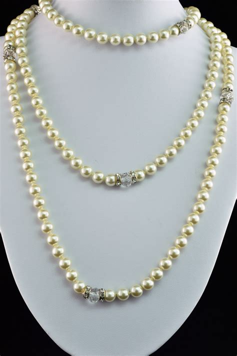 drape necklace pearl drape necklace vivid charms