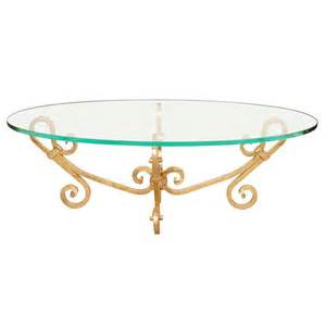 elegant oval glass coffee table venetian style at 1stdibs