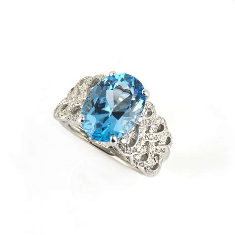 18k white gold blue topaz and dress ring rich
