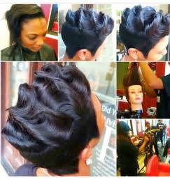 black soft wave hair styles finger waves for kinky hair long hairstyles