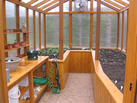 greenhouse bench design cedar greenhouse with potting bench by jhtuckwell