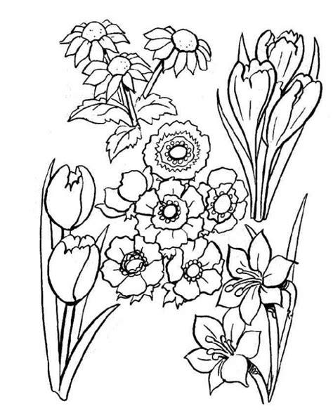Imagenes En Blanco Para Colorear De Flores | dibujo de flores para colorear dibujos infantiles de