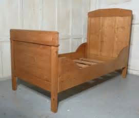 Single Sleigh Bed A 19th Century Rustic Pine Single Sleigh Bed Antiques Atlas
