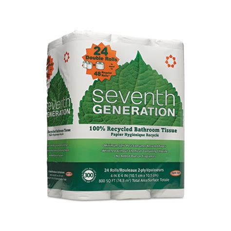 Seventh Generation Bathroom Tissue by Seventh Generation 100 Recycled Bathroom Tissue Sev13738