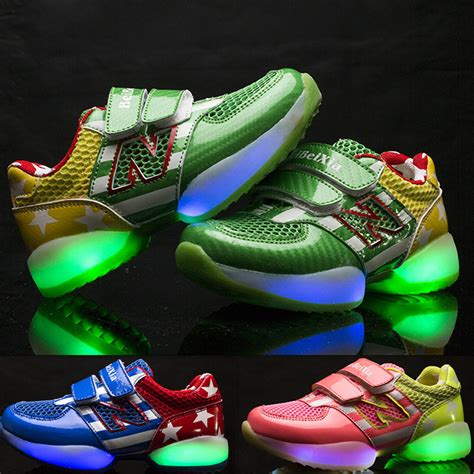 Sneakers With Lights by Children S Shoes Luminous Shoes With Light Colorful Led Fluorescent Lights Boys And