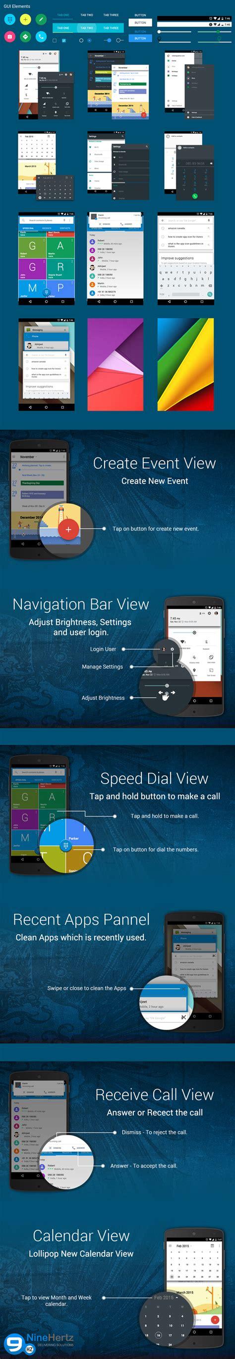 material design html ui kit free android material design ui kit psd free download
