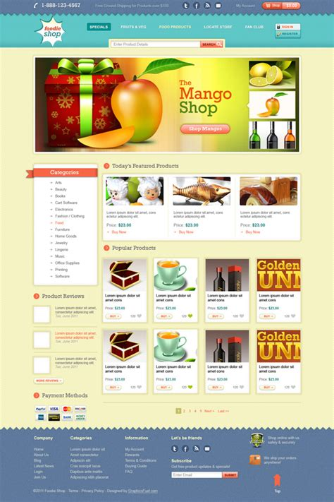 one page ecommerce template ecommerce website template design psd graphicsfuel