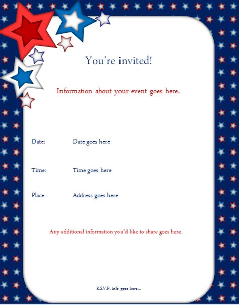 star birthday party invitation template