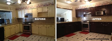 Refinishing Kitchen Cabinet How To Refinish Kitchen Cabinets With Limited Budget Ward Log Homes