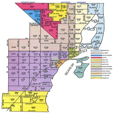 zip code map florida miami zip code map my