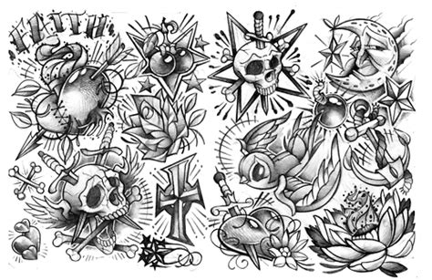 tattoo flash for men styles school flash for