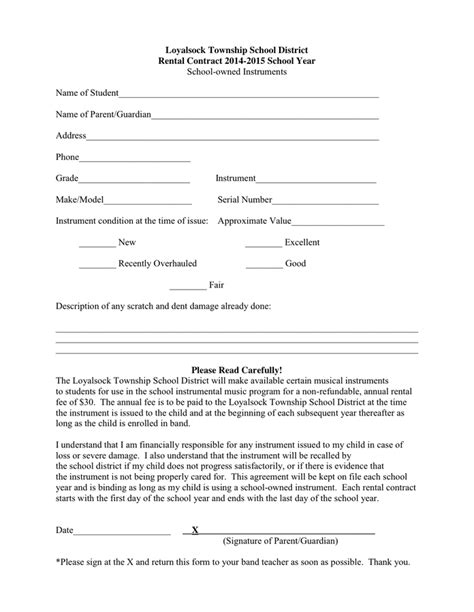 Rental Agreement Letter Between Parent And Child rental contract in word and pdf formats