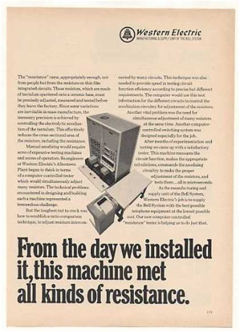 thin resistor ads vintage communications ads of the 1960s