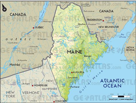 maine physical map trc summer in maine working for social justice with the