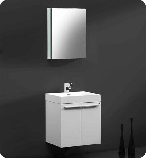 Bathroom Vanities And Medicine Cabinets 22 5 Quot Fresca Alto Fvn8058wh White Modern Bathroom Vanity
