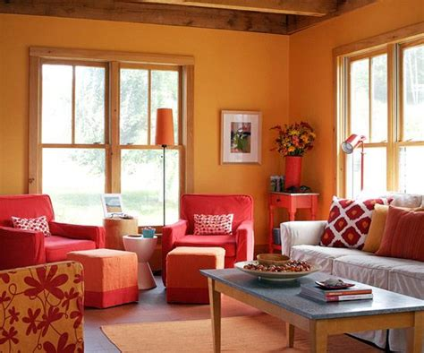 add color to your living room pinterest orange living