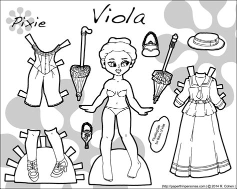 printable paper dolls black and white viola a printable paper doll from the 1890s in black and