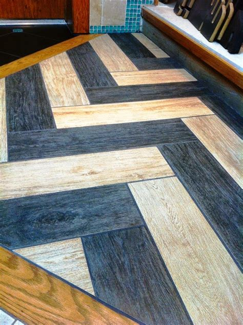 Tile Bordir Two Tone 3 no limitations of design with wood look tiles