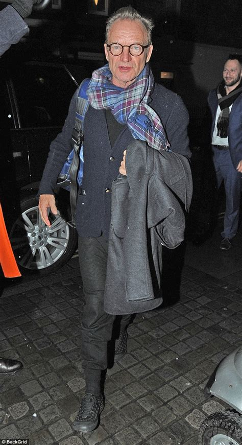 Sting Keeps The Going sting and trudie styler enjoy a dinner date