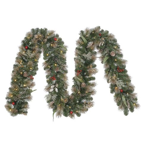 12 ft battery operated roosevelt artificial garland with