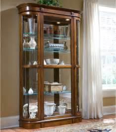 Pulaski Curved Glass Curio Cabinet Pulaski Pecan Curio Display Cabinet At Hayneedle