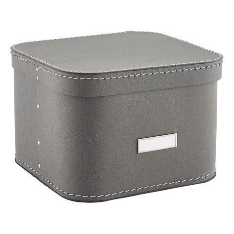 Storage Box With Lid grey oskar storage box with lid the container store