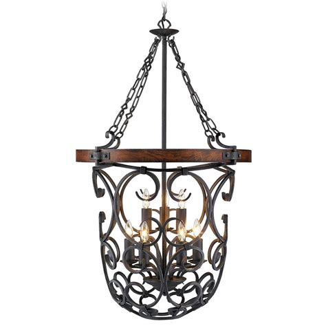 Black Iron Pendant Light Golden Lighting Madera Black Iron Pendant Light 1821 9p Bi Destination Lighting