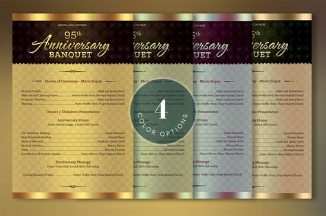 template photoshop cs3 church anniversary one sheet program template on behance