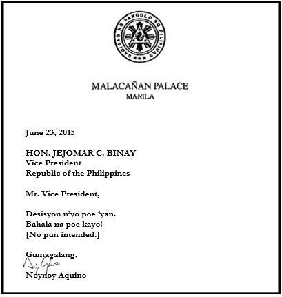 President Acceptance Letter president aquino acceptance letter the professional heckler