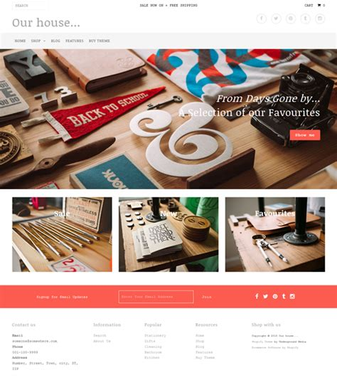 best shopify themes of 2015 18 of the best flat shopify themes down