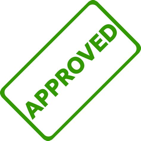 clipart approved business stamp