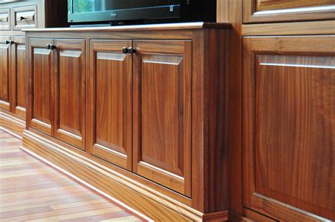 sapele mahogany media cabinetry in ellicott city maryland