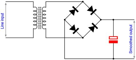 smoothing capacitor in rectifier capacitor uses capacitor applications electronics notes