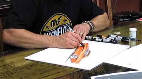 Watch Chip Foose at the drawing board   Time lapse video